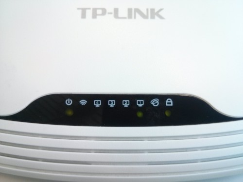 LED-Panel des TP-Link WR841nd